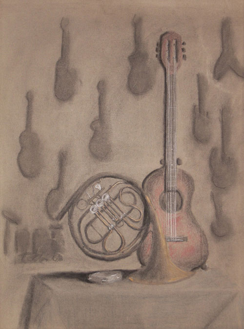 Music Shop (in charcoal)