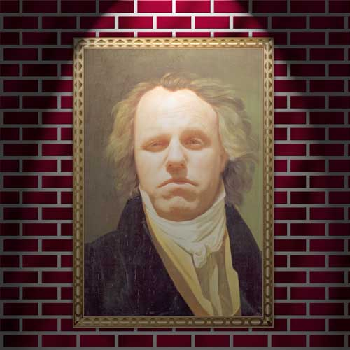My face in a painting of Beethoven