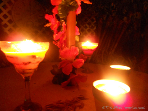 Candles in the Garden 1