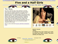 Five and a Half Girls website image